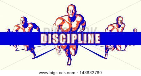Discipline as a Competition Concept Illustration Art