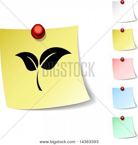 Ecology sheet icon. Vector illustration.