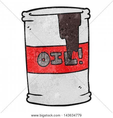 freehand textured cartoon oil drum