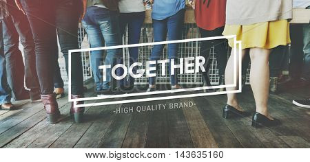 Together Community Friends Society Support Concept
