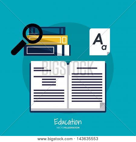 book lupe education learning school icon. Colorful design. Vector illustration