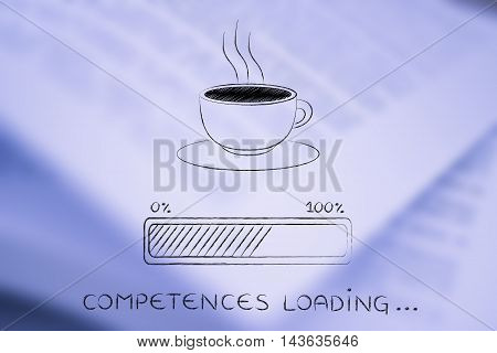Coffee Cup & Progress Bar Loading Competences