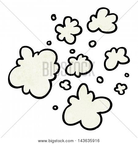 freehand textured cartoon decorative smoke puff elements