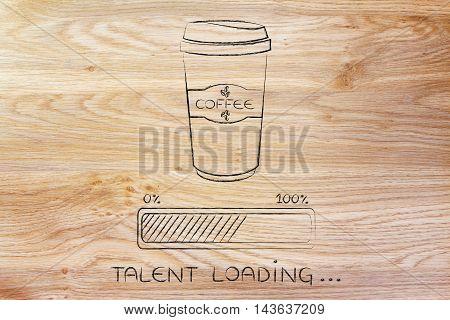 Coffee Tumbler And Progress Bar Loading Talent