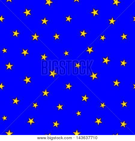 Stars chaotic seamless pattern. Fashion graphic background design. Modern stylish abstract texture. Colorful template for prints textiles wrapping wallpaper website etc. Stock VECTOR illustration