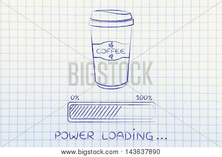 Coffee Tumbler And Progress Bar Loading Power