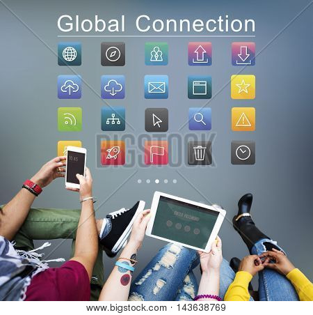 Application Cloud Network Communication Internet Concept
