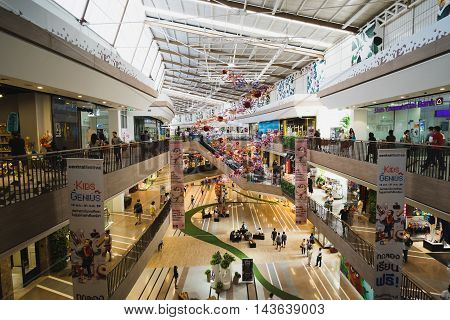 Bangkok, Thailand - August 21, 2016:Central Festival East Ville was opening 27 Nov 2015, a large open shopping street. The project centers open (open-air) , the largest in Southeast Asia .