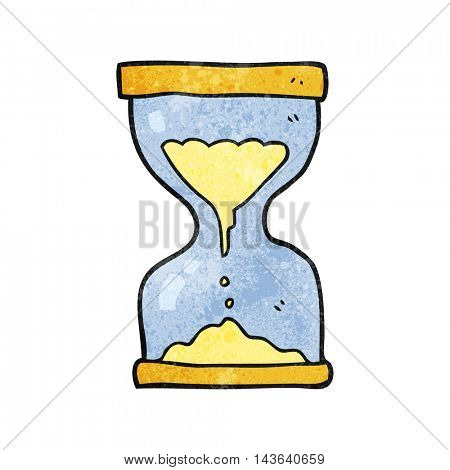 freehand textured cartoon sand timer hourglass