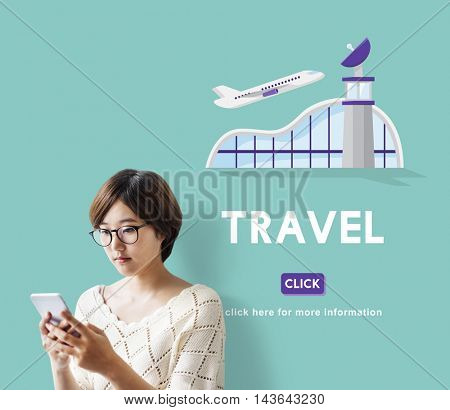 Travel Business Trip Flights Information Concept