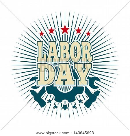 Labor Day logo. May Day. Template card for the Labor Day. Vector illustration