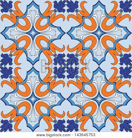 Vector seamless pattern background in blue. For backgrounds decoration for your design page fill and more.