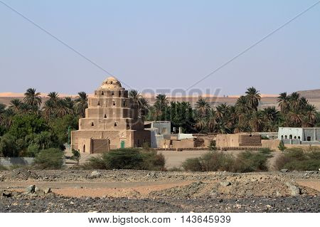 An old village in the Sudanese Sahara