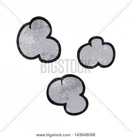 freehand textured cartoon smoke clouds
