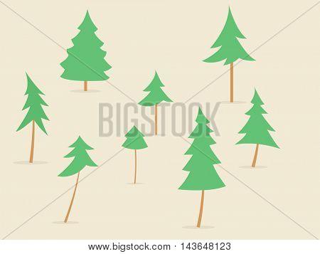 cartoon fir tree collection