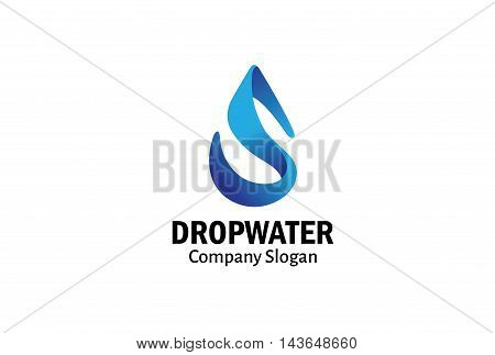Drop Water Logo Creative And Symbolic Design Illustration