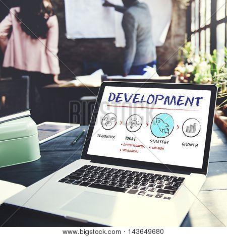Development Business Plan Growth Strategy Concept