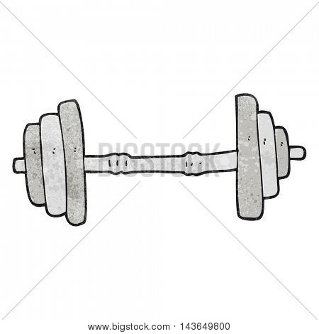 freehand textured cartoon barbell