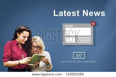 Latest News Announcement Broadcast Article Concept
