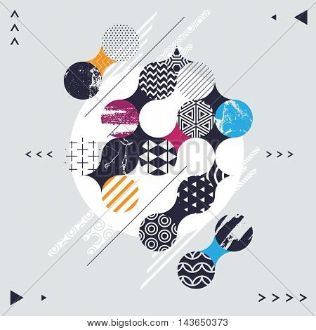 Abstract decorative geometric background