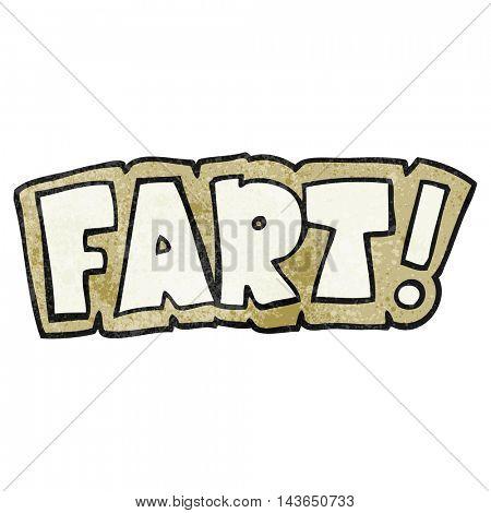 freehand textured cartoon fart symbol
