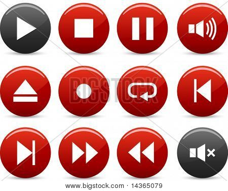 Player icon set. Vector illustration.