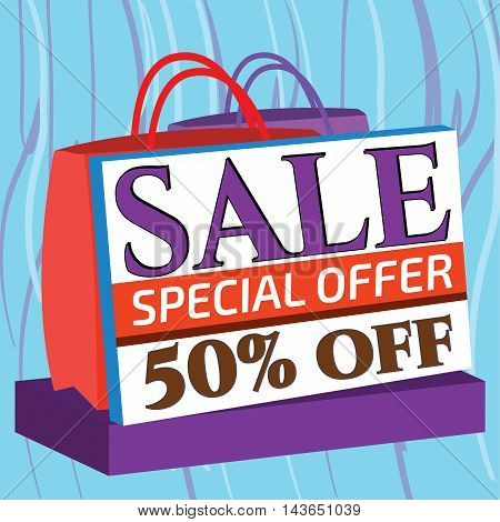 An attractive sale banner at a special offer