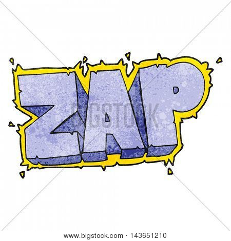 freehand textured cartoon zap symbol