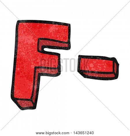 freehand textured cartoon F grade