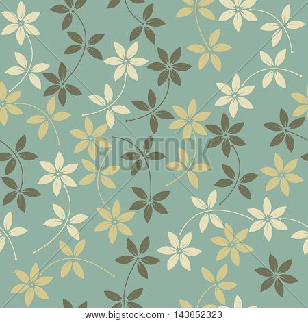 Elegant seamless pattern with stylish flowers can be used for linen, napkin designs, textile and more creative designs.