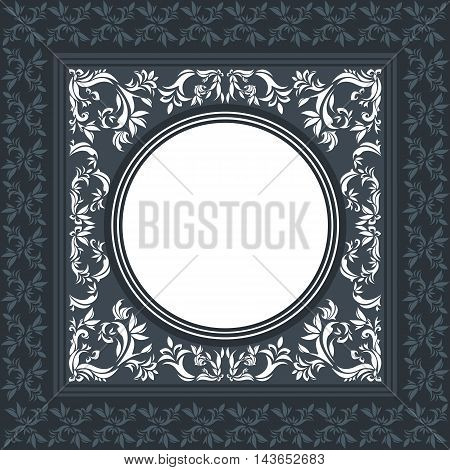 Vintage background frame with floral ornament decorative and stylish elements