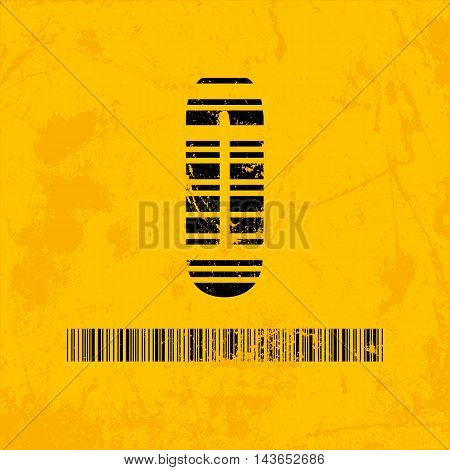Stylish barcode typeface number zero. Stripped letters of barcode scanning. Custom font. Vector illustration