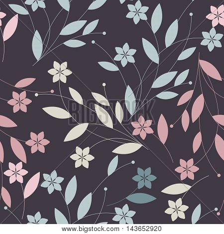 Endless colorful pattern with elegant flowers petals and leaves. Seamless floral Template for design fabric ,greeting cards ,covers, linen, tile and more creative designs.