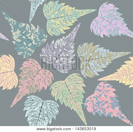 Endless pattern of campsis leaves. Tropical seamless pattern pattern with stylish leaves for your creative designs.