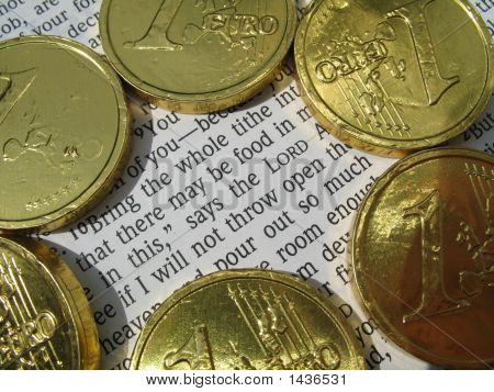 Bible Verse And Coins