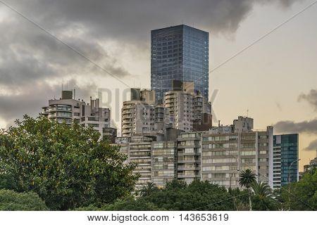Modern Buildings In Montevideo Uruguay