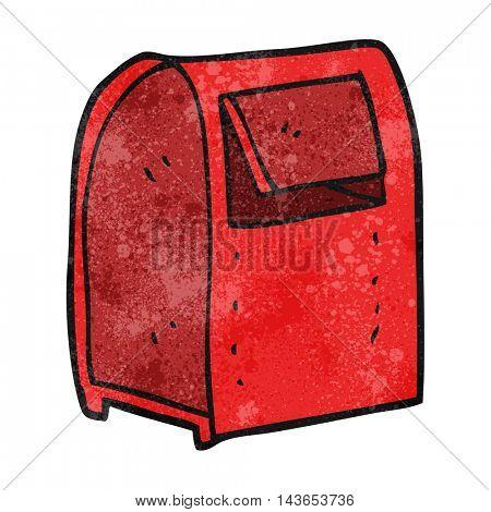 freehand textured cartoon mailbox