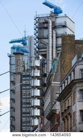 LONDON UK - SEPTEMBER 19, 2015: Lloyds bank building,  City of London