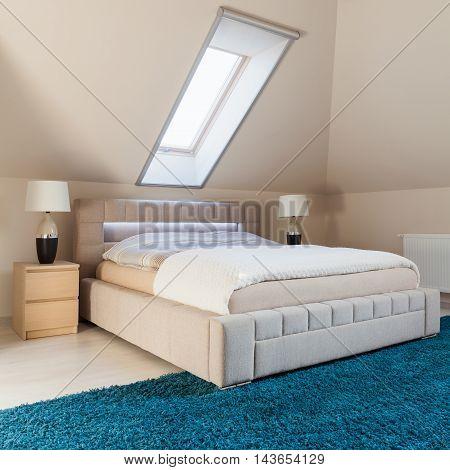 Bedroom Arranged In The Attic