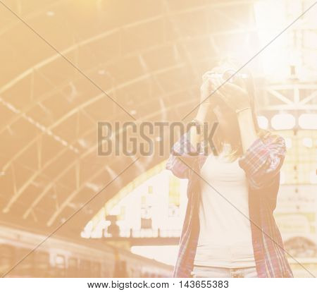 Girl Adventure Hangout Traveling Holiday Photography Concept
