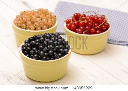 Blueberries, Red Currants And White Currants