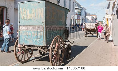 Old Confectionery Horse Trailer On Display In The City