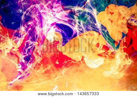 Colorful Liquid Fusion Background. Abstract Colorful Liquid Photo.