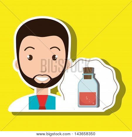 doctor laboratory tube chemistry vector illustration graphic