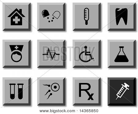 Medical icon set. Vector illustration.