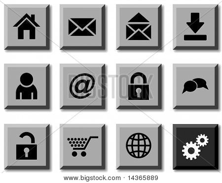 web icon set. Vector illustration.