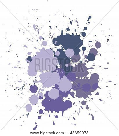 Vector blots lilac background. Blobs and splashes of paint.