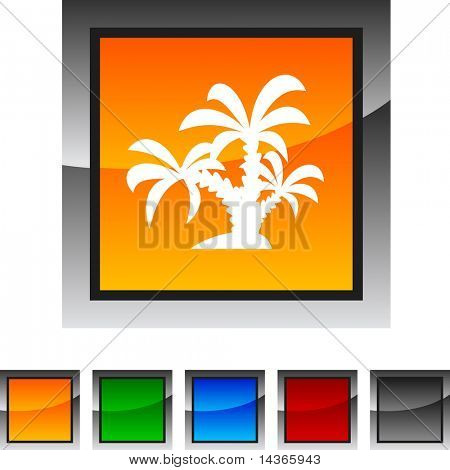 tropical icon set. Vector illustration.