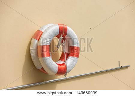 Lifebuoy at the Swimming pool