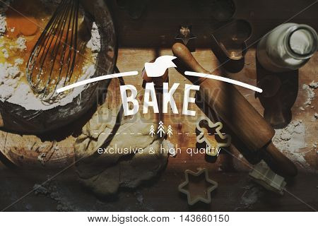 Bakery Cake Cookies Culinary Dough Flour Pastry Concept